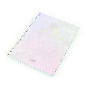 Caderno Universitário 80 Folhas Tie Die Lilás Pastel