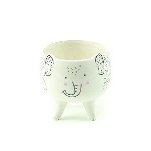 Cachepô de Cerâmica com Pés Elefante Médio