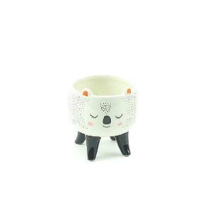 Cachepô de Cerâmica com Pés Coala Pequeno