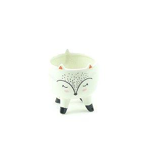 Cachepô de Cerâmica com Pés Raposa Pequeno