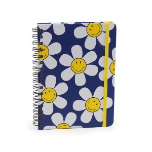 Caderno Wire-O Smiley Maragarida Azul A5