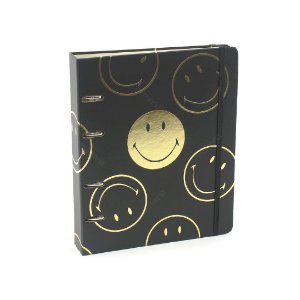 Caderno Criativo Argolado Smiley Preto