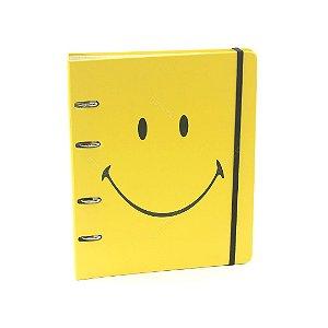 Caderno Criativo Argolado Smiley Amarelo