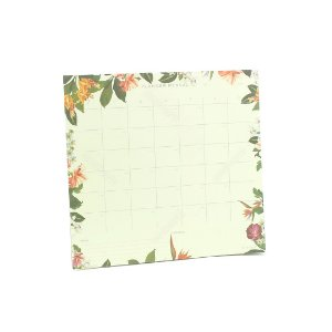 Bloco Planner Mensal Tropical