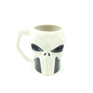 Caneca Decorativa de Porcelana 3D Punisher Caveira