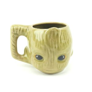 Caneca Decorativa de Porcelana 3D Avengers Baby Groot