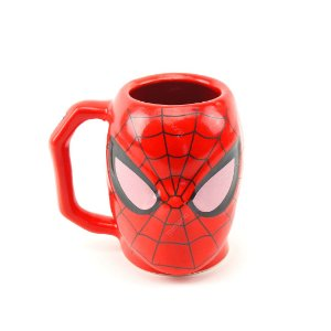 Caneca Decorativa de Porcelana 3D Spider-Man
