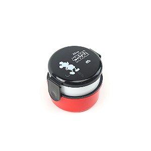 Lunch Box Marmita 2 Compartimentos Redonda Mickey