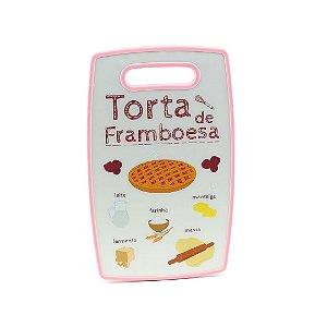 Tábua de Corte de Plástico Torta de Framboesa Rosa