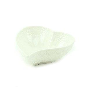 Mini Bowl de Cerâmica Coração Irregular Branco