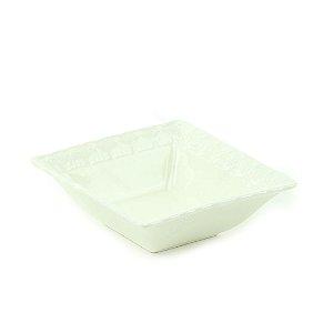 Mini Bowl de Cerâmica Retangular Laço Branco