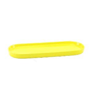 Bandeja de Cerâmica Oval Amarela