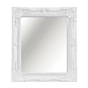 Espelho Decorativo Vintage Branco 25x30