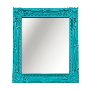 Espelho Decorativo Vintage Turquesa 25x30