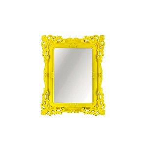 Espelho Decorativo Rococó Amarelo 10x15