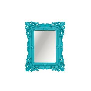 Espelho Decorativo Rococó Turquesa 10x15