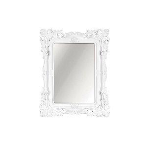 Espelho Decorativo Rococó Branco 13x18