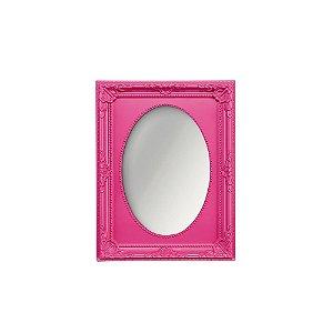 Espelho Vintage Oval Rosa 10x15