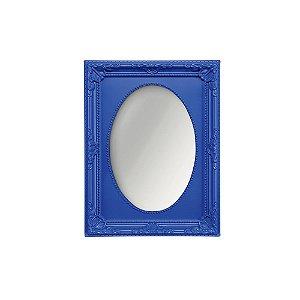Espelho Vintage Oval Azul Royal 13x18