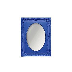 Espelho Vintage Oval Azul Royal 10x15