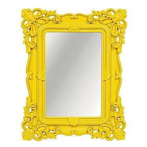 Espelho Decorativo Rococó Amarelo 25x30