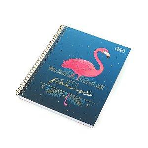 Caderno Colegial Aloha Flamingo 80 Folhas