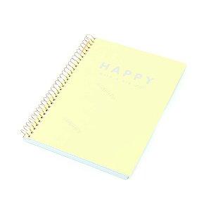 Caderno Colegial Happy Amarelo 80 Folhas