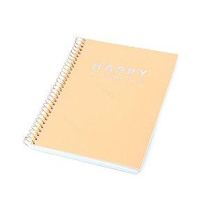Caderno Colegial Happy Laranja 80 Folhas
