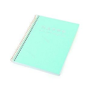 Caderno Colegial Happy Verde 80 Folhas