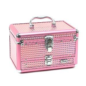 Maleta de Maquiagem com Divisórias Cisne Pink