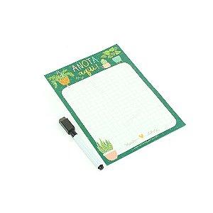 Planner Magnético com Caneta Garden Pequeno