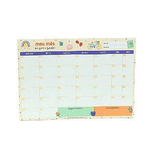 Bloco Planner de Mesa Mensal Happy Time