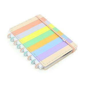 Caderno Inteligente Arco-Íris Pastel Médio