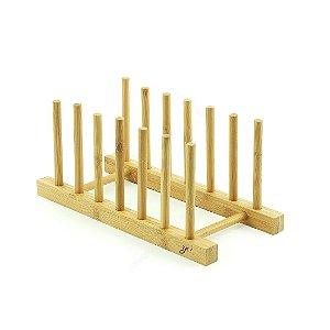 Suporte para Pratos de Bambu
