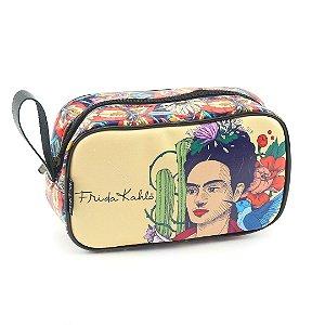 Necesssaire Estampada Média Frida Kahlo Pés para Que os Quero