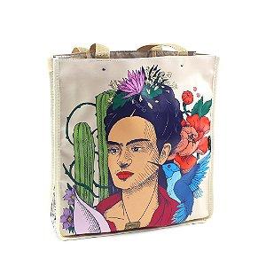 Bolsa Sacola Bag Frida Kahlo Cacto e Flor