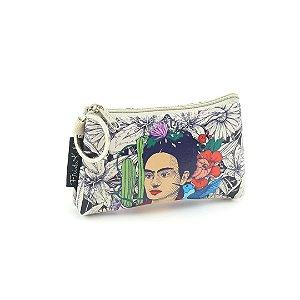 Carteira Mini Estampada Frida Kahlo Cacto e Flor