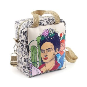 Bolsa Térmica Média Frida Kahlo Cacto e Flor