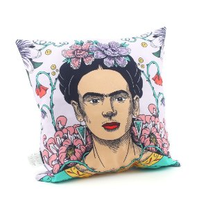 Capa de Almofada Frida Kahlo Flor de Maracujá Colorida