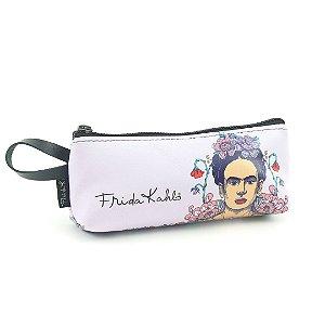 Necessaire Porta-Óculos Estampada Frida Kahlo Flor de Maracujá