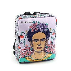 Bolsa Mochila Estampada Frida Kahlo Flor de Maracujá
