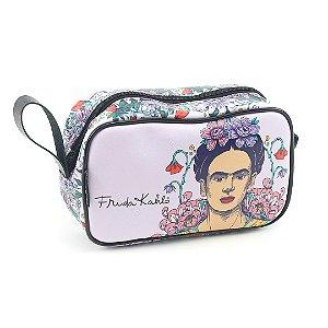 Necessaire Estampada Média Frida Kahlo Flor de Maracujá