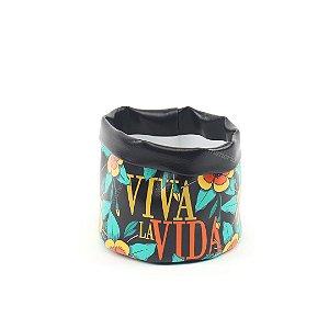 Cachepô Estampado Frida Kahlo Viva La Vida Pequeno