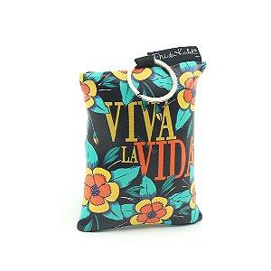 Eco Bag Dobrável Frida Kahlo Viva La Vida