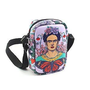 Bolsa Transversal Pequena Frida Kahlo Flor de Maracujá
