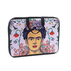 """Case para Notebook 15,6"""" Frida Kahlo e Flores de Maracujá"""