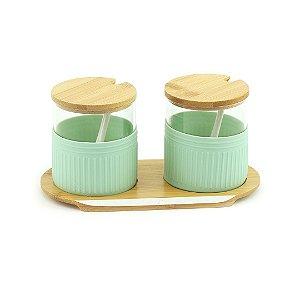 Porta Condimentos com 2 Peças Elegance Verde