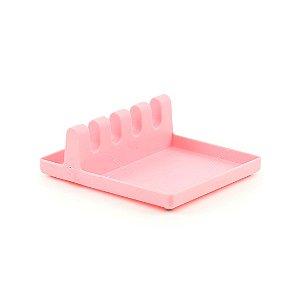 Suporte Plástico para Utensílios Rosa