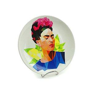 Prato de Porcelana Decorativo Frida Geométrico