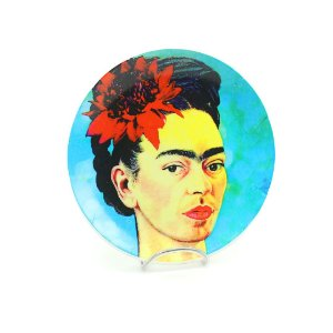 Prato de Porcelana Decorativo Frida